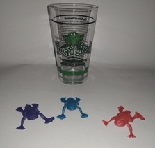 I Party Hard Toadsted The Frog Hopping Drinking Game Glass And Frogs ETVB - $6.02
