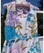 Vintage 60s 70s Long Cotton Summer Dress 10/12 Petite S/M PARK EAST by S... - $32.00