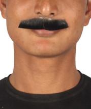 Men's Painter Brush Style Moustache Set Black Cosplay Facial Hair M-1166 - £11.78 GBP