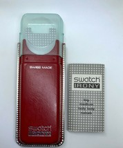 Genuine Swatch Irony Red Watch Case Storage Box + Manual FAST P&P - $18.35