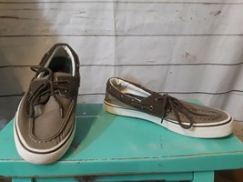 Sperry Top-Sider Brown Marlin Canvas Brown Corduroy Boat Shoes Men's 9 - €19,67 EUR