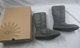 UGG Australia 5815 Classic Tall Suede Boot Grey Suede Size 11 in box - $79.15