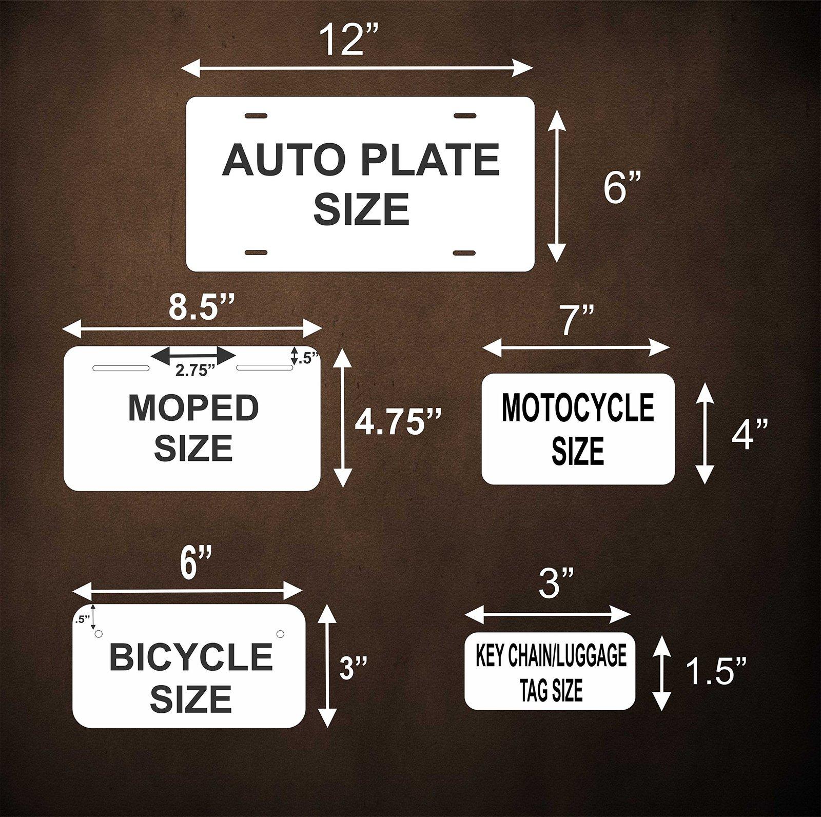 Brisbane Australia Personalized Custom Novelty Tag Vehicle Car Auto Motorcycle M