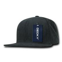 Corduroy Snapback Hat - Charcoal Gray, 100% Cotton (Decky 1076-CHA, New) - £6.75 GBP