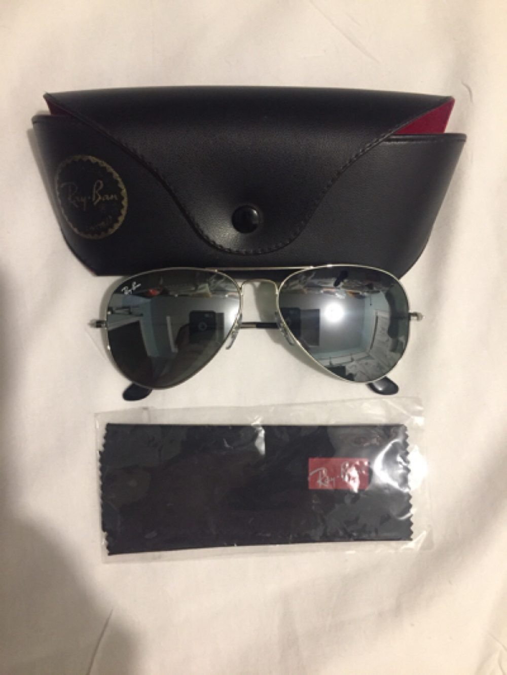 6bfaf98f4e826 Ray Ban Aviator RB 3025 W3277 Silver Frame and 50 similar items