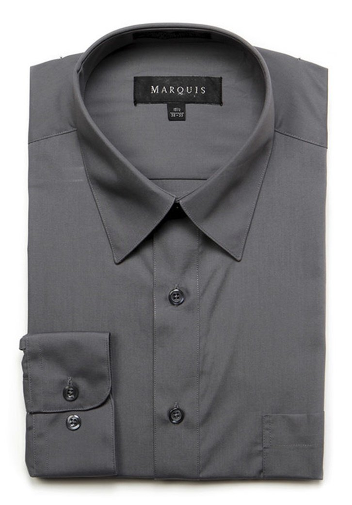 Primary image for Marquis Men's Charcoal Long Sleeve Regular Fit Dress Shirt