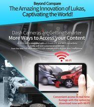 "Lukas LK-9370 Blackbox Dash Camera 2CH Full HD Wi-Fi 3.5""LCD Dual 8Gb+8Gb+GPS image 8"
