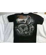 INDIAN BRAVE ON HORSE LISTEN TO THE WIND NATIVE AMERICAN T-SHIRT - $11.53+