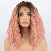 vvBing 6inch Lace Deep Parting Hair Wig Short Bob Lace Front Wig Synthetic 2 Ton image 2