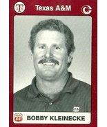Coach Bobby Kleinecke Tennis Card (Texas A&M) 1991 Collegiate Collection... - $3.00