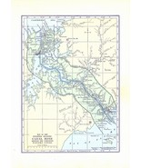 Map 1922 United States CANAL Zone Map Antique Wall Decor Suitable for Fr... - $14.99