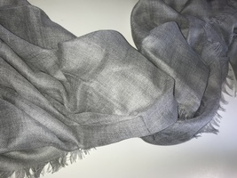 Banana Republic Silk-Cashmere Rectangular Scarf Stone Gray  - $78.00