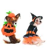 Halloween Kürbis oder Hexe Kostüm für Hunde XS S - M - Süßes oder Saures - $16.87+
