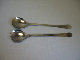 """Silver Plate Flat Ware  Salad Spoon & Fork Set Made In Italy 9"""" - $9.95"""