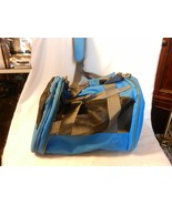 Small Dog or Cat Foldable Soft Carrying Tote Blue & Gray, Shoulder Strap - $37.13