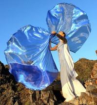 Sheer Sapphire Blue Deep Calls Unto Deep Prophetic Worship Flags with Fl... - $85.00