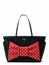 Kate Spade Disney Minnie Mouse Bow Betheny Black Nylon Baby Bag Handbag - $261.99