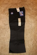 "DICKIES Girl's Junior Black School Uniform Capri Sz 3 Boot Cut 29"" x  22"" - $14.80"