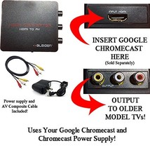 HDMI Converter for Google Chromecast: Use Chromecast with Older TVs That Have Co