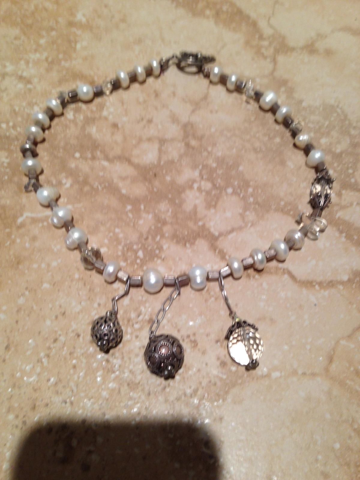 dramatic beaded three drop necklace - $24.99