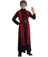 Deluxe Gothic Priest Boys Red Black Robe Costume, Rubies 881447 - $22.49