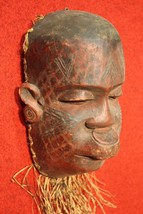 BELLA SCULPTURE AFRICANA WOOD PAINTED STRAW COLLECTIBLES FIRST '900 (H 3... - $379.77