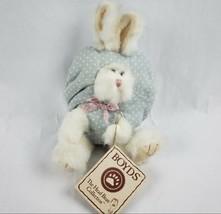 "Boyds Bears Hip Bunny 8"" Plush Rabbit Easter Egg Blue Polka Dot Stuffed ... - $20.56"
