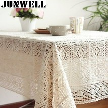 Handmade Tablecloth 100% Cotton Knitted Lace Vintage Crocheted  - €15,98 EUR+