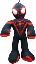 New Large 14'' Miles Morales Black Spiderman Plush Toy. Licensed. Marvel. Soft - $17.63
