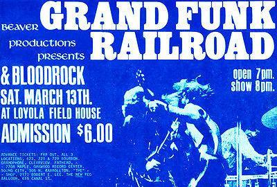 Primary image for Grand Funk Railroad - Loyola Fieldhouse - 1971 Concert Poster