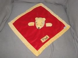 Winnie the Pooh Plush Lovey Security Blanket Nunu Red Yellow - $24.74