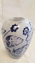 Kosta Boda Vase Signed OLLE BROZEN blown glass Sweden Scandinavian Blue ... - $126.52