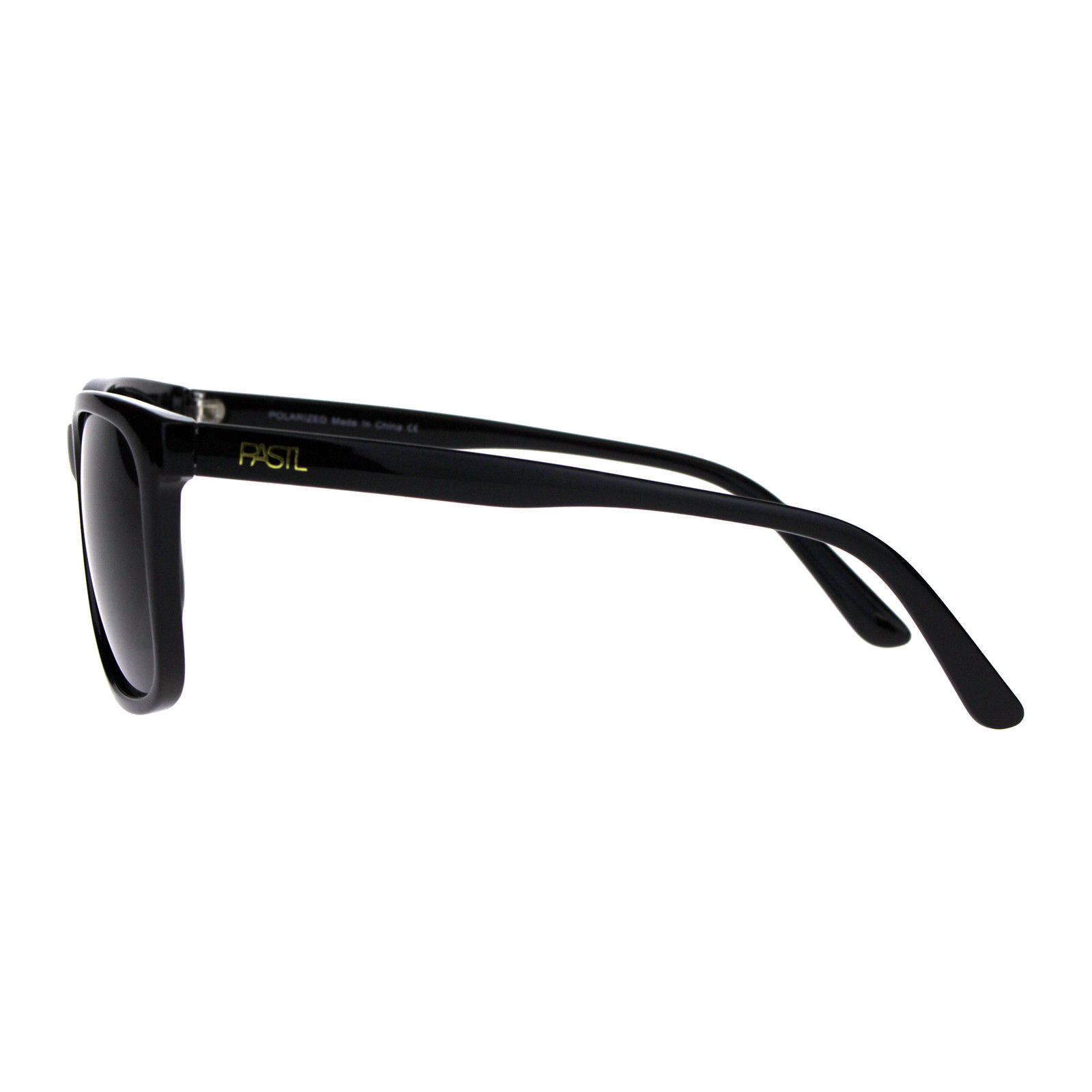 PASTL Sunglasses Polarized Lens Classics Square Designer Fashion Shades Black
