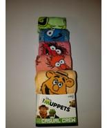 Disney the muppets mens casual crew socks 5 pairs design 2 fits shoe siz... - $19.95