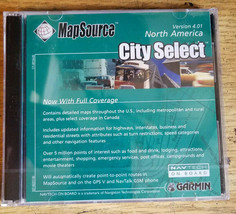 MAP SOURCE CITY SELECT 4.01 NORTH AMERICA NEW GARMIN SEALED DISC  - $28.04