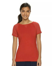 Women's Chaps Sport Mesh Short Sleeve Crewneck Tee Red Size Large NWT - $10.30