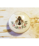 Vintage Bee Knobs Drawer Pulls, Birch Wood, Shabby Chic Cabinet Pull Han... - $5.94
