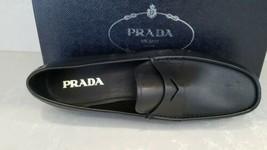 $790 New PRADA Men's Black Classic Glove Leather Loafers US 12.5 UK 11.5 EU 45.5 - $445.49
