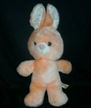 "12"" VINTAGE BABY EASTER BUNNY RABBIT STUFFED ANIMAL FAIR PLUSH TOY PEACH... - $36.12"