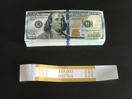 10.000 Prop Money Used Replica 100s New Style All Full Print For Movie Video Etc - $25.99