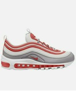 NIKE Air Max 97 Platinum Tint Grey Red Running Women's Shoes Size 7 CI73... - $100.01