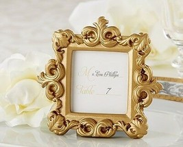 """Royale"" Gold Baroque Place Card Photo Holder Wedding Frame Shower Gift ... - $6.98"
