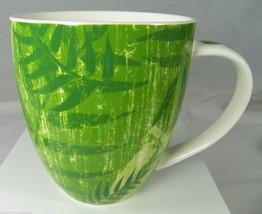 "STARBUCKS 14 oz Green Jungle Forest Foliage Coffee Mug 4.25"" 2006 Fern Philo - $9.50"