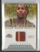 Gary Payton 2001 Fleer Force Game Used Jersey 2 Color 177/200 TCGP Sonics - $14.89