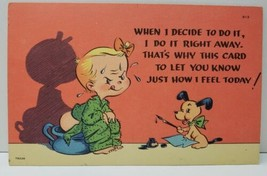 Comic When I decide to do it..Boy on Chamber Pot Tichnor Bros Unused Postcard C9 - $9.95