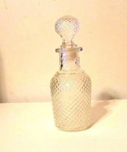 VTG. Avon Clear Glass Hobnail Apothecary Decanter Bottle Marked 13 6 0z ... - $14.85