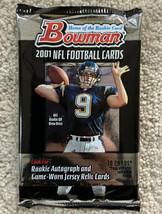 2001 Bowman NFL Football Unopened Hobby Pack Drew Brees? - $20.02