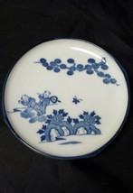 """Asian Plate 6.25"""" Blue & White Ceramic Butterfly, Children Chinese Tree ... - $15.47"""