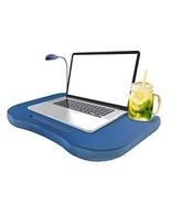 Laptop Lap Desk, Portable With Foam Filled Fleece Cushion, LED Desk Lig... - $39.93