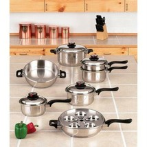 World's Finest™ 7-Ply Steam Control™ 17pc T304 Stainless Steel Cookware Set - $432.17